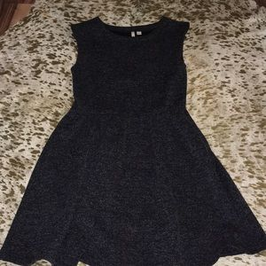 Charcoal w/white threading a line dress size small